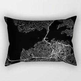 Auckland Black Map Rectangular Pillow