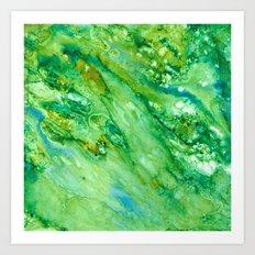 Emerald Fantasy Art Print