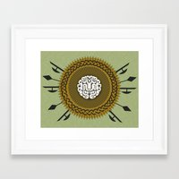 shield Framed Art Prints featuring Shield  by Daniac Design