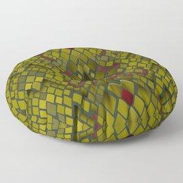 Snake skin abstract reptile leather modern green khaki Floor Pillow