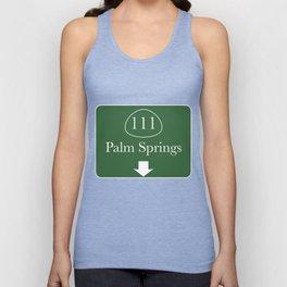 111 Palm Springs Unisex Tank Top