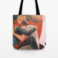 yaoi Tote Bags featuring Raira Days by washuuchan
