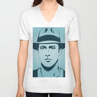 ryan gosling V-neck T-shirts featuring Gosling by Jeroen van de Ruit