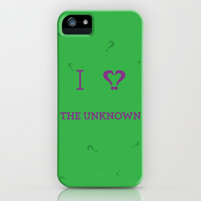 I heart The Unknown iPhone Case