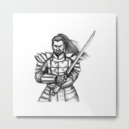 Samurai Katana Sword Tattoo Metal Print