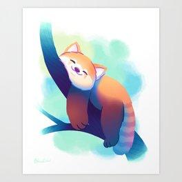 Dreaming Red Panda Art Print
