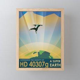 NASA Retro Space Travel Poster #6 Framed Mini Art Print