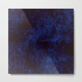 Navy Abstract Art Metal Print