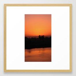 Nile Sunset Framed Art Print