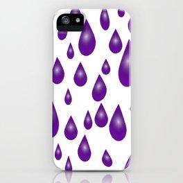 Purple Raindrops iPhone Case