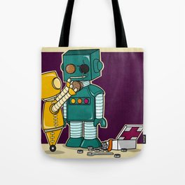 Robots on Friendship Tote Bag