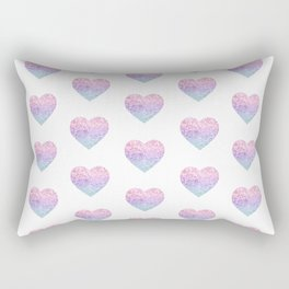 Unicorn Girls Glitter Heart #1 #shiny #pastel #decor #art #society6 Rectangular Pillow