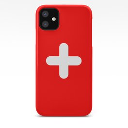 Swiss flag modern 3 iPhone Case