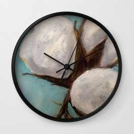 Blue Cotton Wall Clock