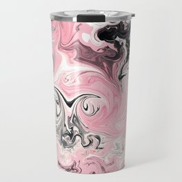 "Shabby Chic ""Saltwater Taffy"" Pink Swirls Travel Mug"