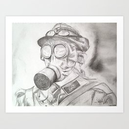 World War I - Gas Mask (WWI) Art Print
