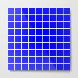 blue cube Metal Print