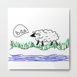 Baa Sheep Metal Print