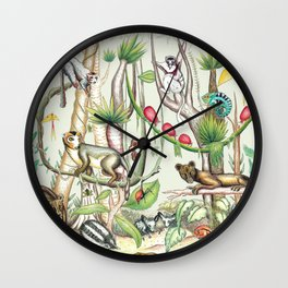 Endemic Species of Madagascar Wall Clock
