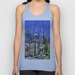 Istanbul Mosque Van Gogh Unisex Tank Top