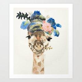 Dandy Giraffe Art Print