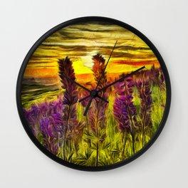 Steptoe Lupine Wall Clock