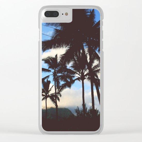 Cali Palms Clear iPhone Case