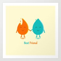 best friend Art Prints featuring Best Friend by Adil Siddiqui