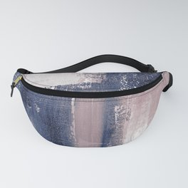 pink navy 3 Fanny Pack