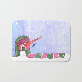 Snowmn christmas Bath Mat