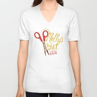 berserk V-neck T-shirts featuring Molly's right. I do go berserk. by Chris Piascik
