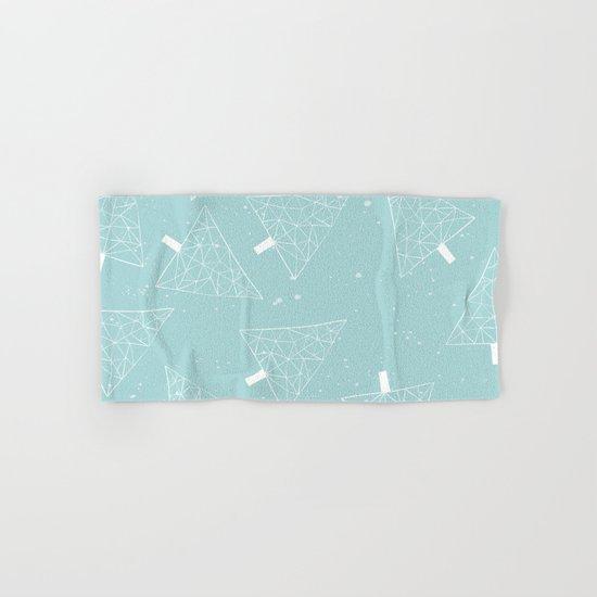 Christmas Trees Light Blue Hand & Bath Towel