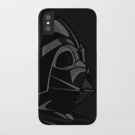 Pop Art Vader black iPhone Case