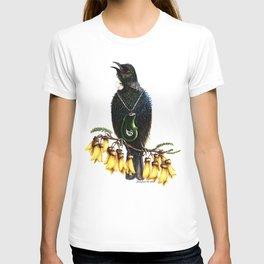 Tui with Kowhai & Jade Pendant T-shirt