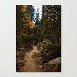 Mountain Path in Autumn Canvas Print