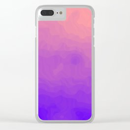 Pink and Purple Ombre - Swirly Clear iPhone Case