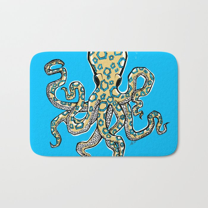 Blue Ringed Octopus II Bath Mat