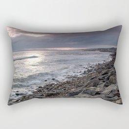 Rocky Beach Sunset Rectangular Pillow