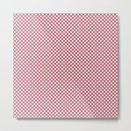 Desert Rose and White Polka Dots Metal Print