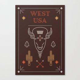 West USA Canvas Print