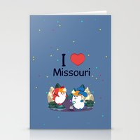 coraline Stationery Cards featuring Ernest and Coraline | I love Missouri by Hisame Artwork