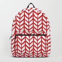 Shibori Chevrons - Peppermint Backpack