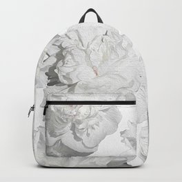 Pretty White Peonies Backpack
