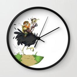 Austrich ridder Wall Clock