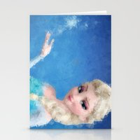 frozen elsa Stationery Cards featuring Elsa - Frozen by lauramaahs