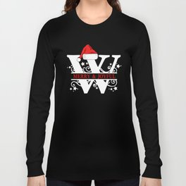 Christmas Monogram W Long Sleeve T-shirt