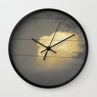 cloud Wall Clocks featuring Cloud by Evgeniy Nesterov