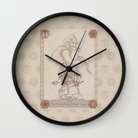 nori Wall Clocks featuring Axes and Knives by BlueSparkle