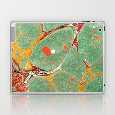 Marbled Green Orange 2A Laptop & iPad Skin