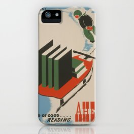 Vintage poster -  A Year of Good Reading Ahead iPhone Case